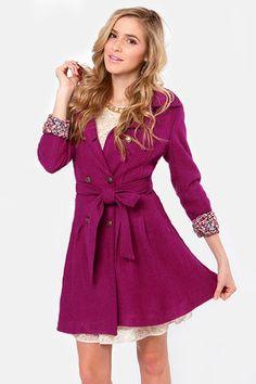 Day By Dainty Fuchsia Coat   $79 On Sale Was 114 USD