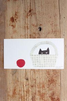 堀口尚子 ポストカード「かくれんぼ」