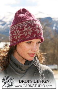 "DROPS hat with Norwegian pattern in ""Karisma"". ~ DROPS Design"