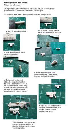 Guns, How To, Plasticard, Sculpting, Tutorial