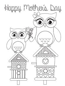 Mother's Day owls illustration | Mother's Day card templates | Tesco Living