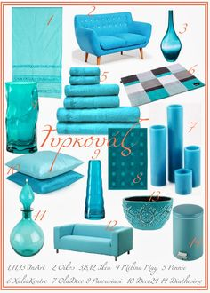 Turquoise decor Τυρκουάζ διακόσμηση