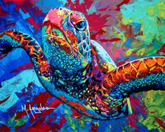 Sea Turtle Painting by Maria Arango - Sea Turtle Fine Art Prints ...