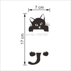 DIY Funny Cute Cat Switch Stickers Wall Stickers