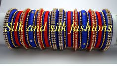 silk thread bangles for party wear which are customizable...