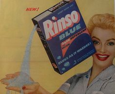 1950s RINSO BLUE vintage advertisement DETERGENT by Christian Montone, via…