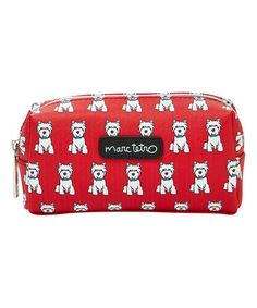 This Red Westie Small Cosmetic Case is perfect! #zulilyfinds
