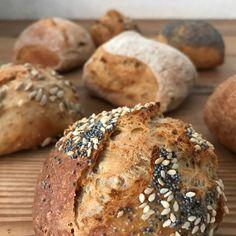 Spelt-Fuldkornsstykker - Skærtoft Mølle A/S Food Crush, Muesli, Bread Baking, Brunch, Snacks, Healthy Breads, Cakes, Drinks, Kitchen
