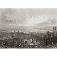 Lake Tiberius Palestine 19Th Century Print Drawn By Aaron Penley From A Sketch By Lieut Col Mcniven Canvas Art - Ken Welsh Design Pics (17 x 12)