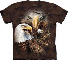 The Mountain Unisex Erwachsen Find 14 Adler Tier T Shirt