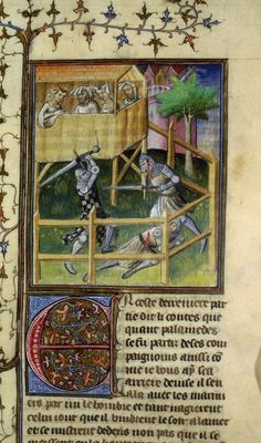 Tristan de Léonois (BNF Fr. 101 fol. 109), first quarter of the 15th century