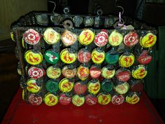 Folky Soda Cap Basket - http://www.clintonshops.com/2272-2/