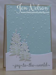 The Tiny Blue Butterfly: Joy To The World... Clearly Besotted 2nd Anniversary Blog Hop
