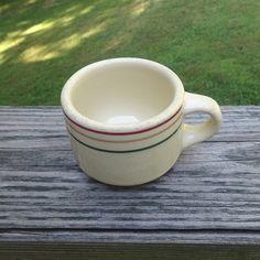 1940s Vintage Iroquois Restaurant Ware Striped Coffee Mug by Syracuse China…