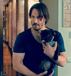 Keanu ♡♥ Reeves......an animal lover.... another reason why Keanu is adorable ..