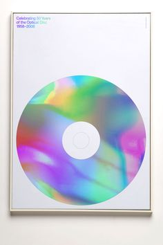 Rainbow silkscreen — Celebrating 50 Years of the Optical Disc by Alex Broadhurst