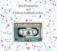 craft tutorial: Bildtranfer mit Tintenstrahldrucker - Image transfer with inkjet printer