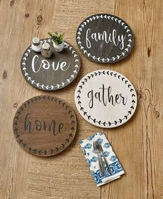 Condiments and seasonings are accessible to everyone at the table with this Sentiment Lazy Susan. It features a bold leaf design around the edge and a sing Ltd Commodities, Lake Decor, Lakeside Collection, Single Words, Lazy Susan, Leaf Design, Things To Buy, Storage Organization, Projects To Try