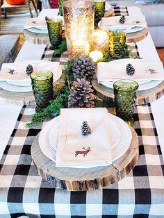 Decorating with buffalo check via interior designer @fieldstonehill