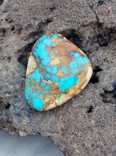 Royston Natural Untreated Turquoise Cabochon by txrockhound, $50.00
