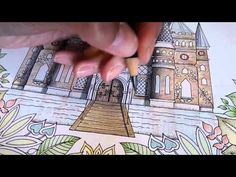 Colouring Enchanted Forest - Shading the Castle