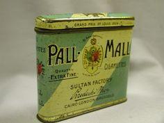Pall Mall Cigarettes Tin