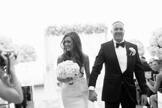 The processional moments after the bride and groom were wed.   Las Vegas Wedding Planner Andrea Eppolito  |  Wedding at Lake Las Vegas  | White and Blush and Grey Wedding | Luxury Wedding Las Vegas
