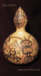 Pyrography art.. and gourd