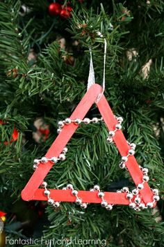 Easy Beaded Christmas Tree Ornament Craft