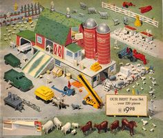 1959 Sears Wishbook Happi Time Farm Set Deluxe