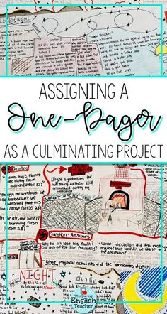 Assigning a one-pager as a culminating novel study is a great way to engage students while also requiring them to show their understanding of the novel. I assigned this one-pager to my high school English students as a final project for Night. Middle School Ela, Middle School English, Middle School Classroom, Ela High School, 10th Grade English, High School Reading, High School Literature, Ap Literature, Teaching Literature