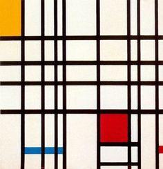 Composición en rojo, amarillo y azul (1921)