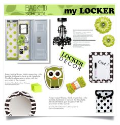 """""""Decorate Your Locker"""" by jecikilicica ❤ liked on Polyvore featuring interior, interiors, interior design, home, home decor, interior decorating, Darice, Kikkerland, BackToSchool and lockerdecor"""