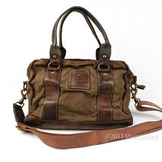 465$ CHIARINI - Canvas Satchel with Removable Pocket by Campomaggi   Marcopoloni