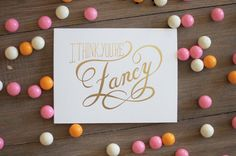 You're Fancy 6 Foil Stamp Cards by WednesdayPress on Etsy
