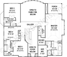 Villa Royale House Plan - Second Floor Plan