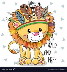 Illustration about Cute Cartoon tribal Lion with feathers on a white background…. Illustration about Cute Cartoon tribal Lion with feathers on a white background. Illustration of funny, indian, hippie – 129078965 Cartoon Cartoon, Cute Cartoon Girl, Cute Cartoon Animals, Cartoon Elephant Drawing, Tribal Nursery, Nursery Art, Nursery Decor, Wall Decor, Animal Drawings