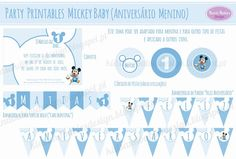 Kids&Babies Design: party printables - Mickey Baby