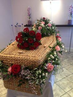 coffin garland, funeral flowers, coffin spray, coffin garland, coffin flowers. www.thefloralartstudio.co.uk