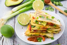 These vegan quesadillas with beans are packed with flavor, minus all the fat from cheese! They're healthy, super easy to make, and soooo delicious!