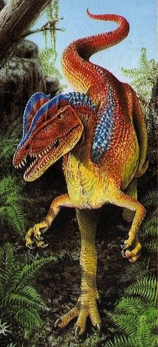 Dilophosaurus wetherilli; Early Jurassic, 193Ma; Theropod; Discovered by Welles, 1954