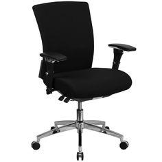 Flash Furniture Hercules Series 24/7 Multi-Shift, 300 lb. Capacity Fabric Multi-Functional Executive Swivel Chair with Seat Slider
