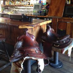 Working on something like this for our kitchen island.  Saddles are ready just debating the actual stool design itself.  Can't wait to finish the project!