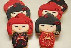 Atelier Sucrème: Galletas muñecas japonesas