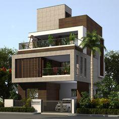 2 Storey House Design, Bungalow House Design, House Front Design, Modern Small House Design, Modern Exterior House Designs, Architect Design House, House Architecture Styles, Gothic Architecture, House Design Pictures