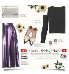 """Galavanting in Geneva"" by jhffa ❤ liked on Polyvore featuring Gucci, Jimmy Choo, Michael Kors, Glitzy Rocks, Pier 1 Imports, contest, Switzerland and traveloutfits"