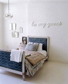 Cute over my future guest room bed