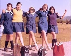 Going to School . nothing like today's schools . and having to wear the mandatory uniforms. Vintage Advertising Posters, Vintage Advertisements, Sweet Memories, Childhood Memories, Old Greek, Mamas And Papas, My Memory, Vintage Images, Old Photos