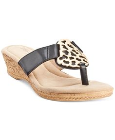 Tuscany by Easy Street Rossano Thong Wedge Sandals - Sandals - Shoes -  Macy's