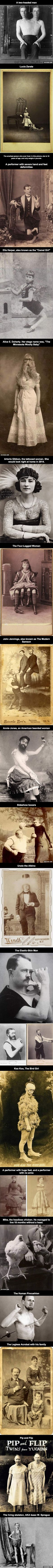 19 Vintage Photos Of Sideshow Circus Performers | I don't know if 100% of those are real photographs, because they liked a good old montage back then but still, I kinda love it!